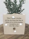 Personalised Shabby Chic Plant Pot AUNTIE gift AUNTY GREAT AUNT OR ANY NAME - 333293104224